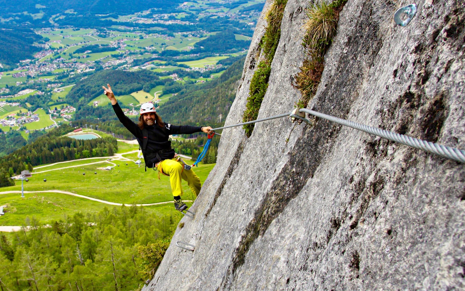 Klettersteig Set Leihen Berchtesgaden : Klettersteigschule klettersteigkurs